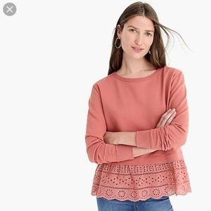 J.Crew Eyelet-hem sweatshirt